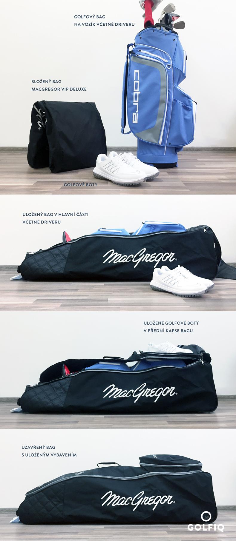 MacGregor VIP Deluxe uložené předměty